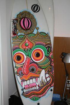 Surfboard Art by Christiano Vellutini, via Behance