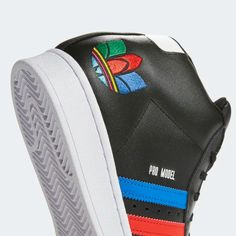 adidas Pro Model Shoes - Black   adidas US Toe Shoes, Adidas Superstar, Black Adidas, Black Shoes, Blue Green, Model, How To Wear, Loafers & Slip Ons, Black Loafers