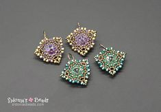 Earrings pattern, beading pattern, earrings tutorial Make this lovely pair of earrings in no time and with really little materials. Great for leftover beads! This beading pattern is suitable for beginning beaders and on. The diagrams and pictures are clear and easy to follow and the
