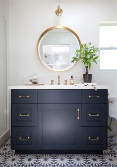 Navy Vanity Similar In Color To Hale Holst Brothers Construction