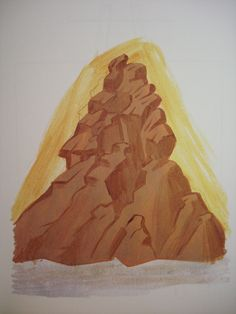 Mountains. Stage 1. Byzantine Icons, Byzantine Art, Painting Process, Tempera, Art Reference, Style Icons, Landscape, Drawings, Image
