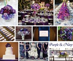 Navy Blue and Purple Wedding