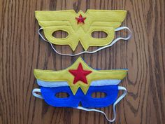 Wonder Woman Felt Superhero Mask Costume  Any by OurCozyCreations, $8.00