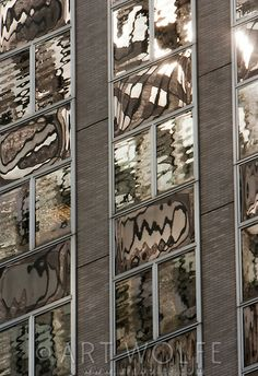 Buildings reflected in windows, New York, USA