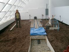 Building A Solar Greenhouse With The Subterranean Heating And Cooling System Solar Greenhouse Heating A Greenhouse Backyard Greenhouse
