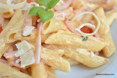 Pasta Carbonara, Tasty, Yummy Food, Pasta Salad, Food And Drink, Cooking Recipes, Ethnic Recipes, Lasagna, Crab Pasta Salad