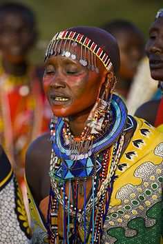 Kaylin Fitzpatrick: our world.in colors and prints Tribes Of The World, We Are The World, People Of The World, Our World, East African Rift, Masai Tribe, Maasai People, Anthropologie, Tribal Women