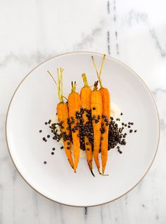 Parsnip Celery Root Mash with Beluga Lentils and RoastedCarrots - a house in the hills