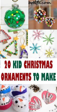 christmas ornament kid crafts - arts and crafts activities - amorecraftylife. Childrens Christmas Crafts, Kids Christmas Ornaments, Christmas Crafts For Toddlers, Arts And Crafts For Teens, Xmas Crafts, Kid Crafts, Diy Christmas Arts And Crafts, Kid Made Christmas Gifts, Kids Ornament