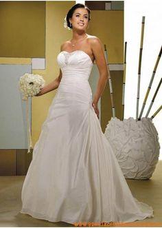 Großes Brautkleid A-Linie mit Schnürung kaufen online
