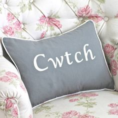 handmade 'cwtch' cushion by chapel cards | notonthehighstreet.com