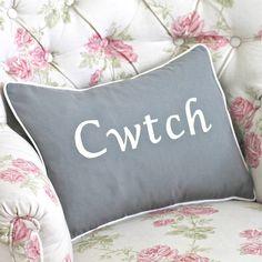 handmade 'cwtch' cushion by chapel cards | notonthehighstreet.com