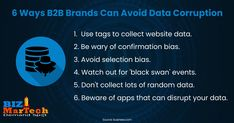 6 Ways B2B Brands Can Avoid Data Corruption #entrepreneur #socialmedia #mediamarketing #network #networkmarketing #success #goals #beyourself #advertise #contentmarketing #Digitalmarketing #SEO #blogging #marketing #branding #marketingtips #marketingstrategy #b2bmarketing #business #biztips #businesstips #b2b