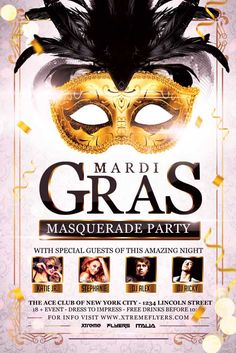 Carnival Masquerade Party Flyer Template - http://xtremeflyers.com/carnival-masquerade-party-flyer-template/ Carnival Masquerade Party Flyer Template PSD was designed to advertise any kind of event related to a carnival event or a masquerade party in your club.  #Ball, #Carnaval, #Carnival, #Flyer, #Masquerade, #Poster, #Psd, #Template
