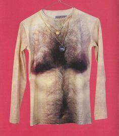 hairy man-boob shirt anyone? #funny