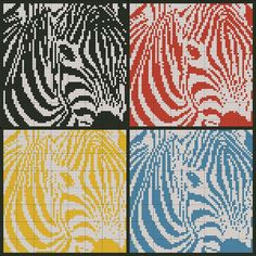 zebras -- free cross stitch pattern