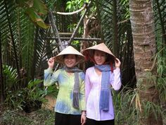 Vietnamese silk pajamas (Áo bà ba) is a traditional Vietnamese costume. It is most associated with southern Vietnam, especially in rural areas. Áo bà ba are usually worn with silk or satin pants, usually white or black, with a conical hat and bandanna, featuring the southern region of Vietnam.
