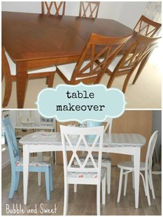 *Inspiration Craft DIY Table makeover Kids playroom makeover on a budget If you are really intereste Furniture Makeover, Diy Furniture, Ikea Expedit, Restaurant, Painted Chairs, Diy Table, Crafts For Kids, Blog, Diy Projects