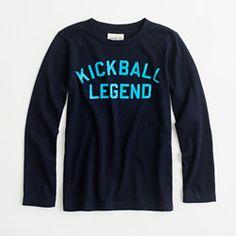 Factory boys' long-sleeve kickball legend storybook tee