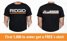FREE Ridgid Power Tools T-shirt with photo submission on http://hunt4freebies.com