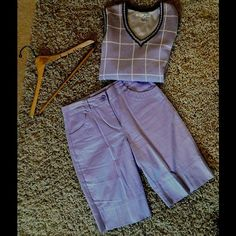 "Lija Shorts Size 6 Like new Lija lavender colored shorts. Fabric is a cotton/spandex blend that is very comfortable to wear. Waist measures 16"" across and the inseam is 12"". Lija Shorts"
