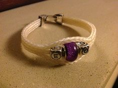 """Items similar to Custom Horsehair Bracelet - The """"Rio Grande"""" Bracelet on Etsy Horse Hair Bracelet, Horse Hair Jewelry, Bracelet Making, Jewelry Making, Letter Beads, Horsehair, One Color, Class Ring, Glass Beads"""