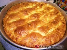 Τυρόπιτα με γιαούρτι Greek Easy Cheese Pie with yoghurt. Yogurt Recipes, Greek Recipes, Dessert Recipes, Greek Cooking, Cooking Time, Cooking Recipes, Cheese Pies, Easy Cheese, Greek Appetizers
