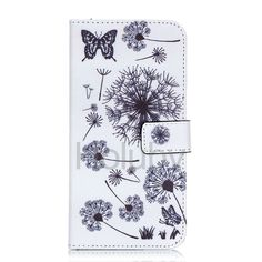 Wallet Style Magnetic Flip with Stand TPU+ PU Leather Case for iPhone 6 Plus/ iPhone 6S Plus - Dandelion