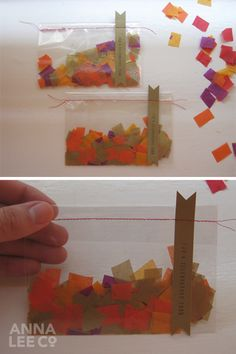 tissue paper confetti in your colors on the table?