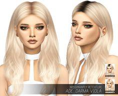 Ade_Darma Viola: Solids & Dark Roots at Miss Paraply via Sims 4 Updates