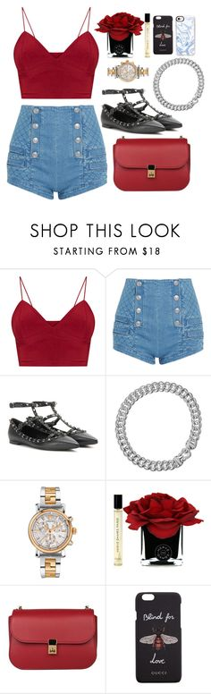 """XOXO"" by indahnoviana97 ❤ liked on Polyvore featuring Pierre Balmain, Valentino, David Yurman, Versace, Hervé Gambs, Gucci and Casetify"