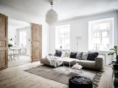 awesome Dreamy one bedroom apartment decor ideas , These dreamy one bedroom apartment decor ideas will make you want to refresh every room inside your home. There is so much interior design inspi. Home Living Room, Living Room Designs, Living Room Decor, Apartment Interior Design, Home Interior, Interior Doors, Modern Scandinavian Interior, Scandinavian Living, Scandinavian Apartment