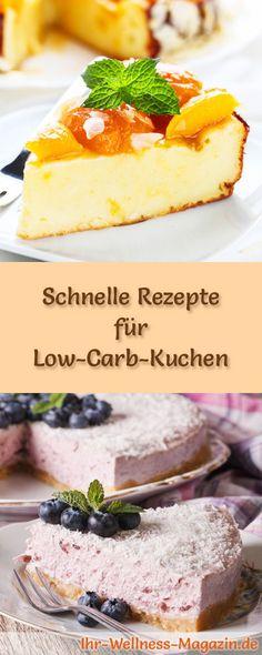 Saftiger Low Carb Karottenkuchen - Rezept Low Carb Kuchen Rezepte - leichte und schnelle küche