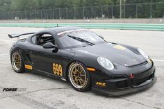 SpeedSport Tuning's Spencer Cox dominated his first weekend at Road America, last weekend, in his brand new Porsche Cayman PDK, winning both sprint races and the enduro. His Forgeline GA3R wheels are finished with Matte Gold centers and Polished outers. See more at: http://www.forgeline.com/customer_gallery_view.php?cvk=1172  #Forgeline #GA3R #notjustanotherprettywheel #madeinUSA #Porsche #Cayman #PDK