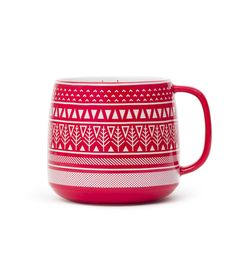 WINTER 2013 Love lattes? Try out this mega tea latte mug with 24 oz capacity and festive design.