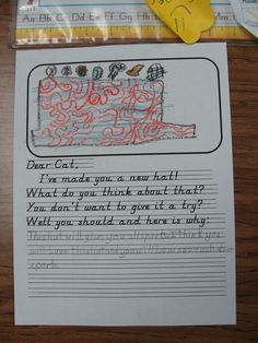 Cat in the Hat - I've made a new hat writing activity
