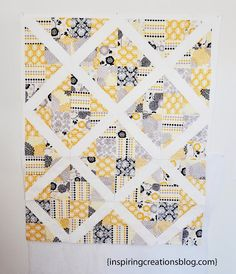 Inspiring Creations: 4-Patch Slice Free Quilt Pattern and Tutorial. She shows alternate layouts as well. I really like this one!