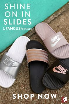 444c96b3da Now is your time to shine in metallic slides. Sport Sandals