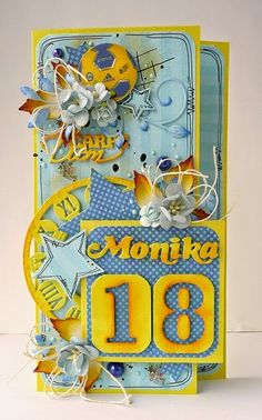 Julie Nutting, Sculpture Art, Sculptures, Cardmaking, Birthday Cards, Envelopes, Numbers, Scrapbooking, Bday Cards