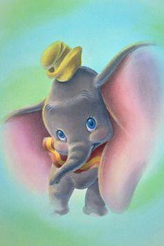 Adorable Baby Dumbo Art <3