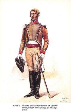 Ufficiale di stato maggiore della legione portoghese al servizio dell'impero francese