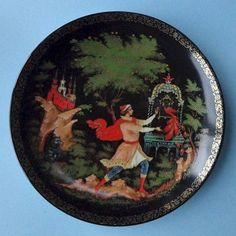 Lomonosov Porcelain Palekh Lacquer Russian Folk Fairy Tale Firebird Deco Plate 6 | eBay