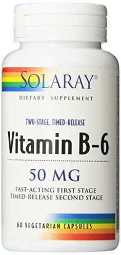 Solaray B-6 TSTR Supplement, 50mg, 60 Count ** Visit the image link more details.