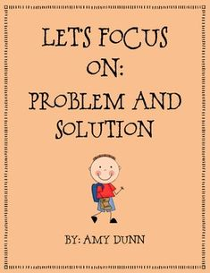 This product contains materials for teaching problem and solution to your students. The packet includes:- 2 Posters (one for problem and one fo...