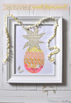 Pineapple Washi tape print, Delineate Your Dwelling