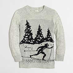 Factory intarsia skier sweater