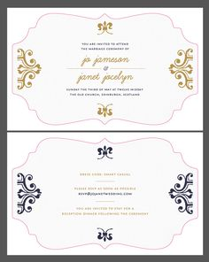 Create beautiful wedding invitations using adobe indesign and how to create a wedding invitation with cool post print effects stopboris Choice Image