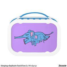 sleeping elephants lunch box