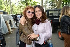 Pin for Later: Tons of Stars Teamed Up For a Good Cause at the Global Citizen Festival Salma Hayek and Susan Sarandon