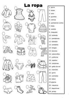 la ropa trabajos - Hojas de trabajo de ELE gratuitas Spanish Website, Spanish Language Learning, Spanish Class, Learning Activities, Student, Teaching, Cards, 3d Printer, Google